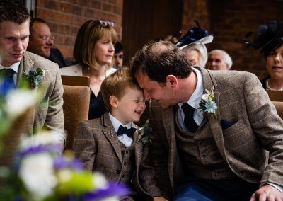 dad and son wedding day moments