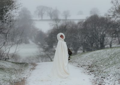 Wedding in the snow at the White Hart, Chesterfield