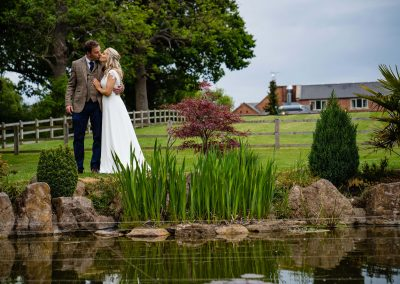 Wedding portraits at the White Hart Wedding Venue, Chesterfield