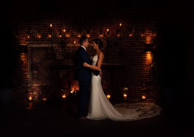 Amazing Wedding Pictures against fireplace