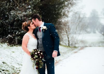 Winter Wedding Day at the White Hart Inn, Moorwood Moo, Chesterfield