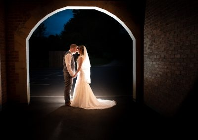 Bride and groom at the White Hart Wedding venue