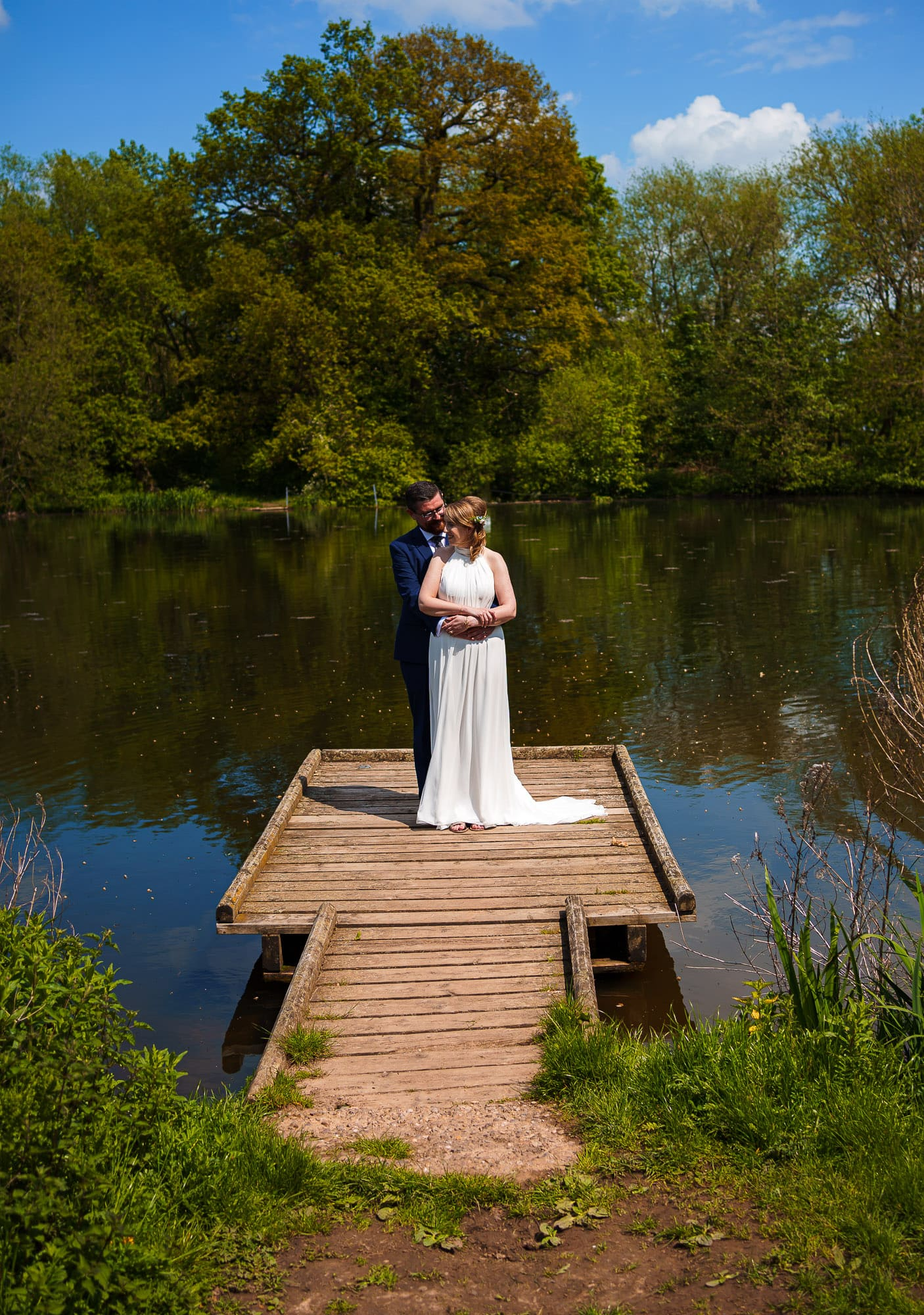 Bride and Groom at Markeaton Park in Derby