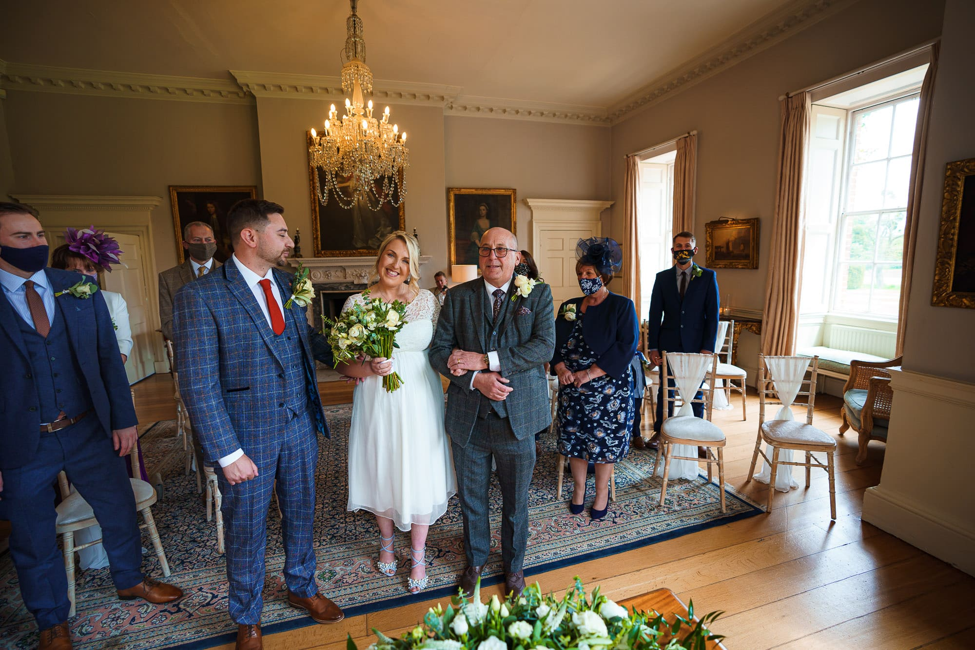 Bride and Groom and Norwood Park wedding venue
