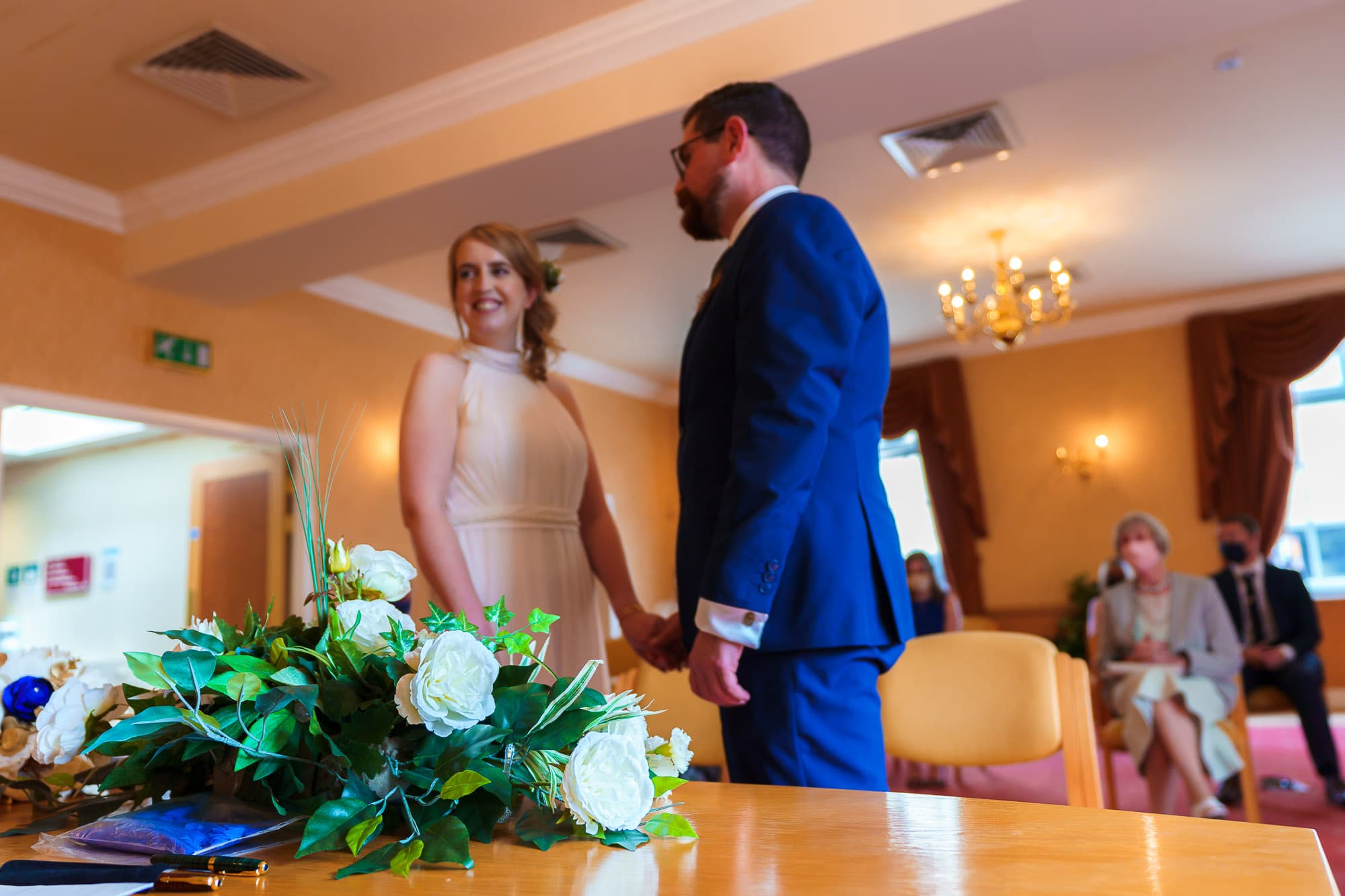 Vows at the Registry office in Derby