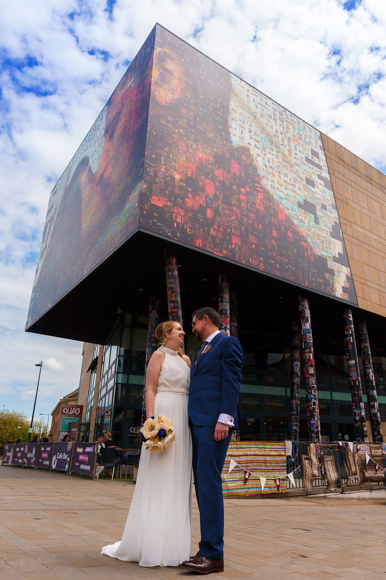 Bride and Groom in Derby City centre