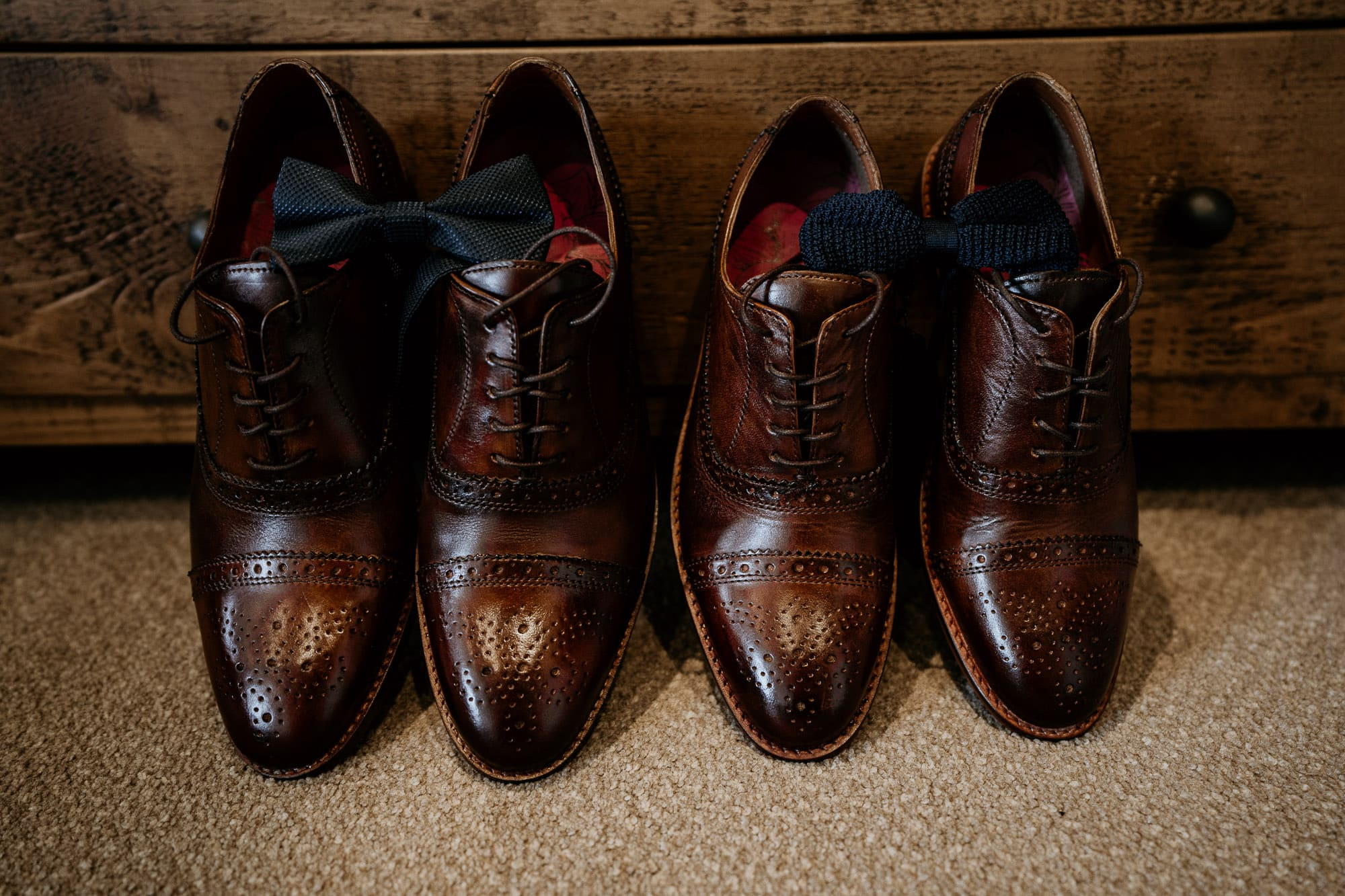 weding shoes on morning of a wedding