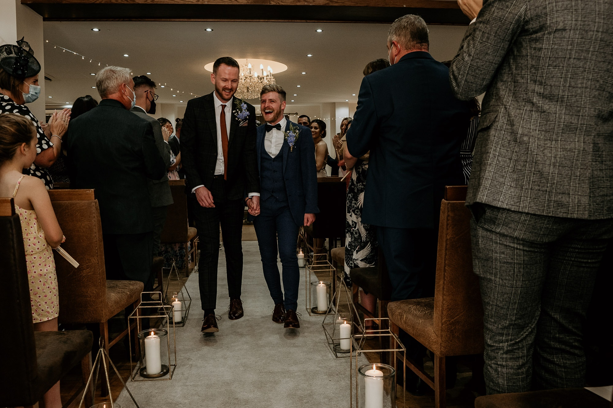 just married for two men at the White Hart Inn, Moorwood Moor