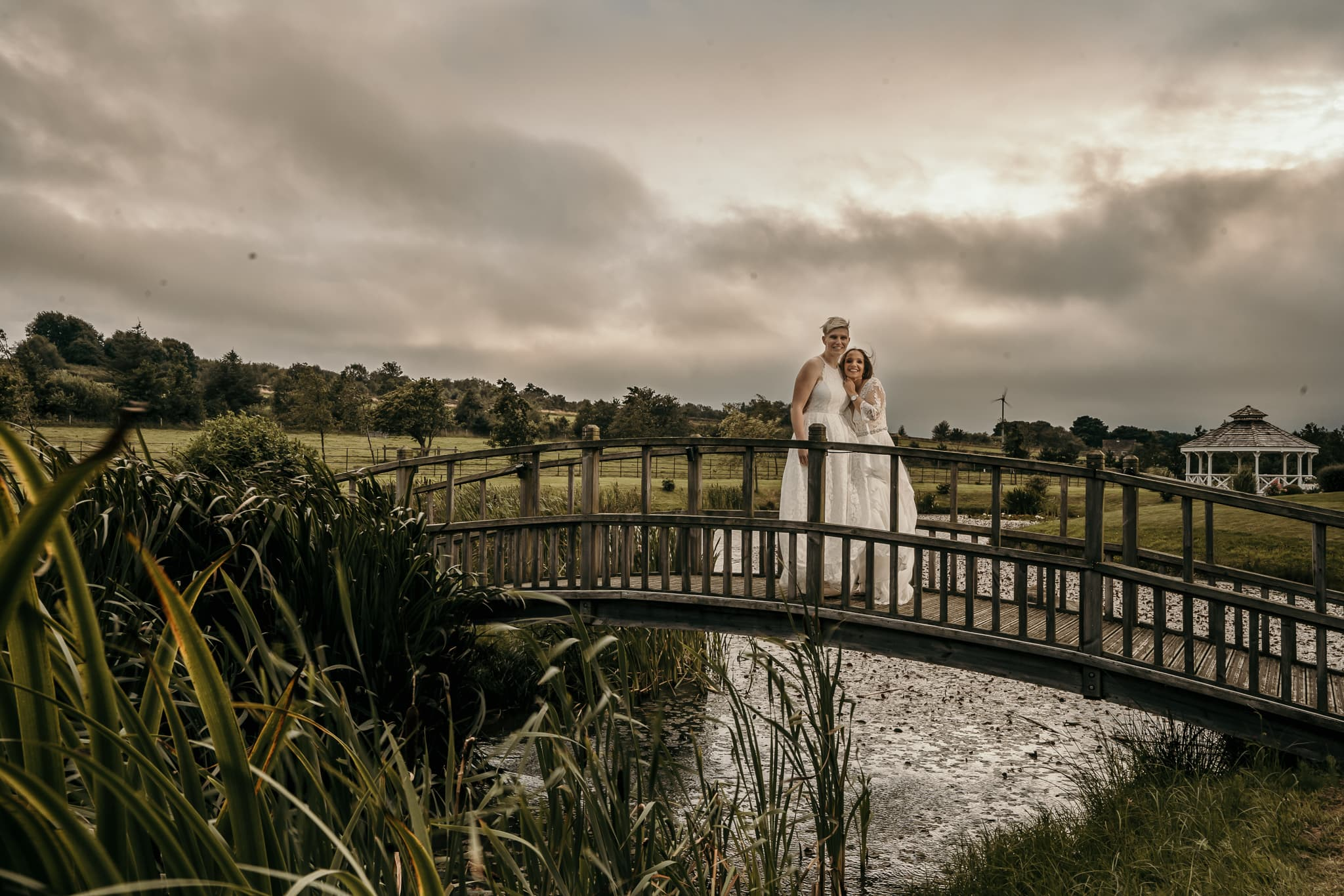 Brides at sunset in Chesterfield