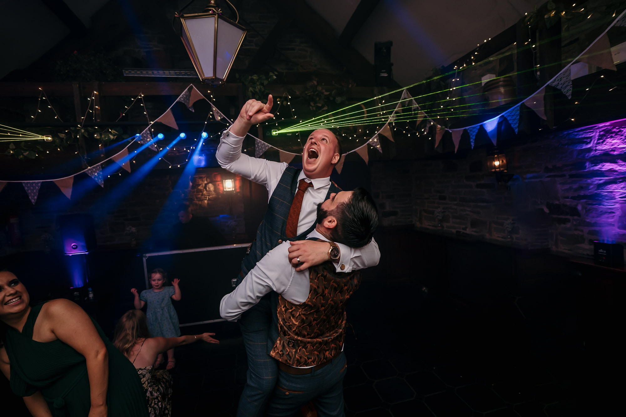 Dancing on wedding day at cubley hall