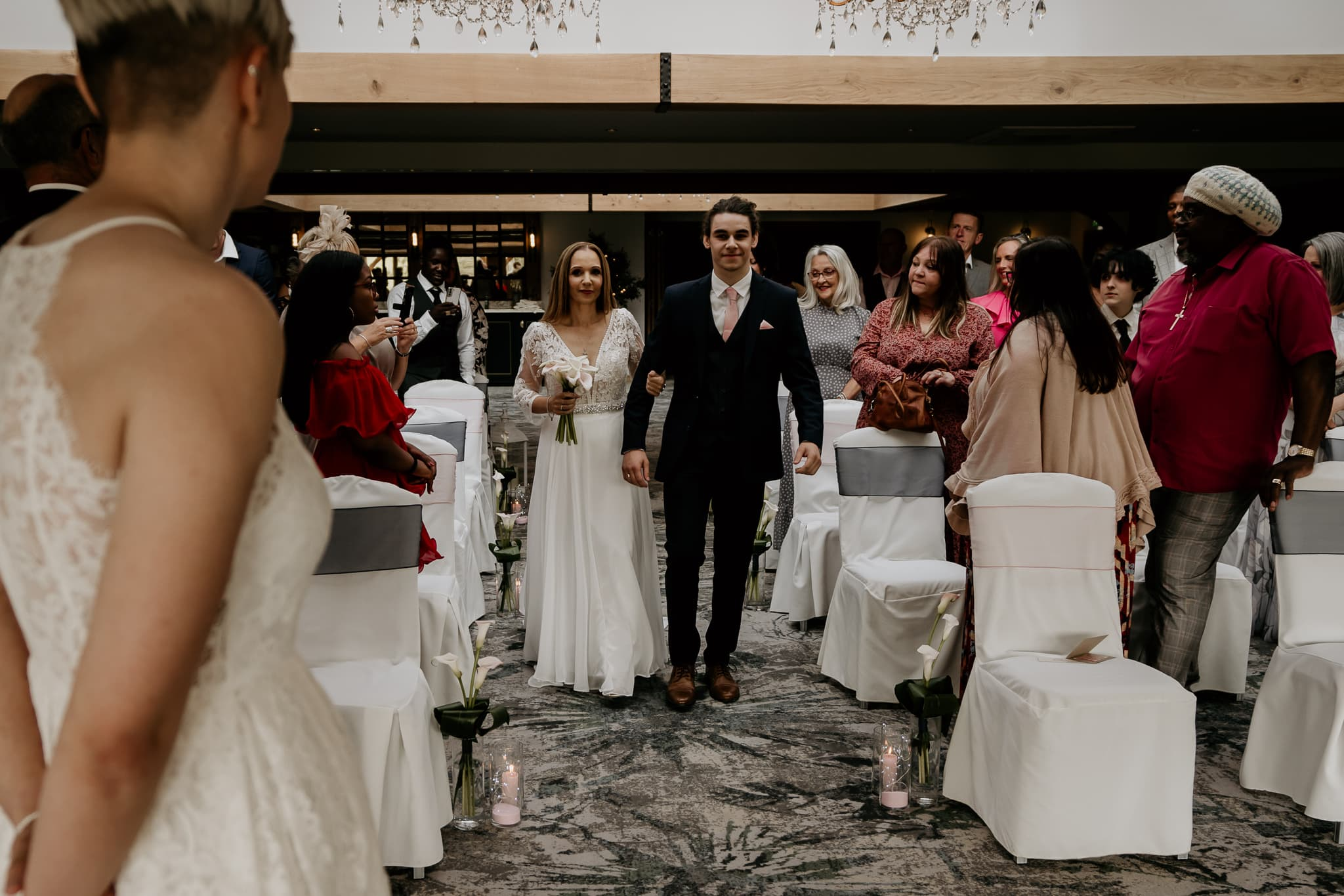 wedding at the peak edge hotel in chesterfield