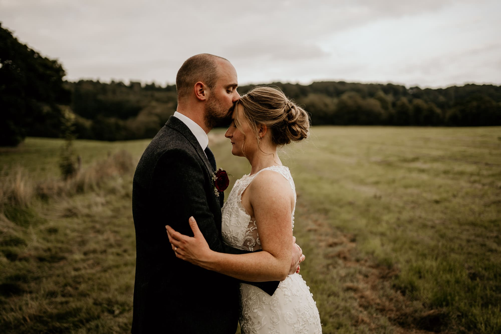 Bride and Groom in Ashover, Chesterfield