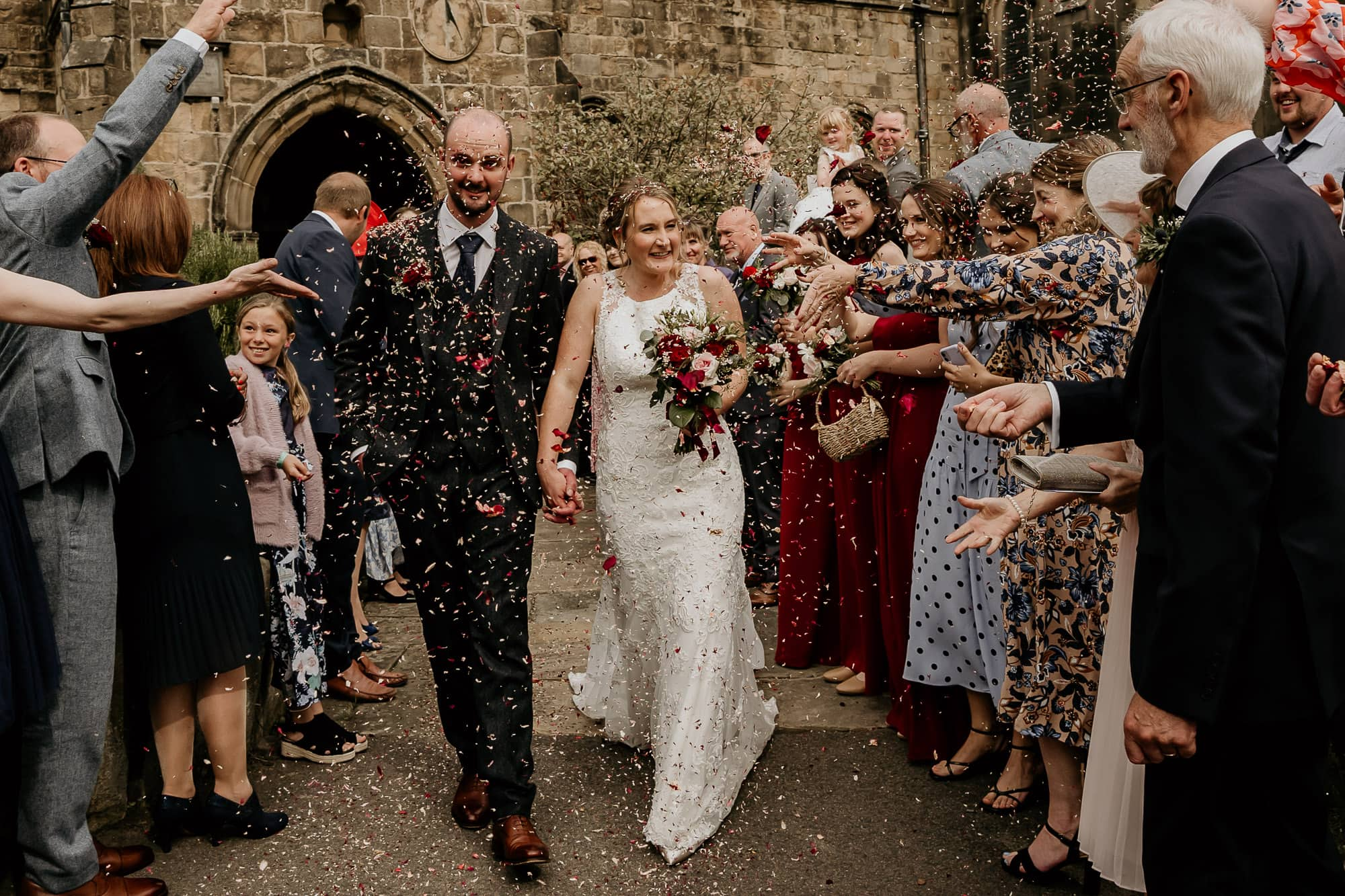 Confetti at Bakewell Church